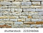 natural stone wall. mosaic... | Shutterstock . vector #223246066