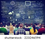 group of people in a social... | Shutterstock . vector #223246594