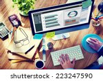 man working in the office... | Shutterstock . vector #223247590