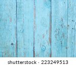 light blue wooden fence... | Shutterstock . vector #223249513