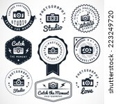 photography badges and labels... | Shutterstock .eps vector #223249720