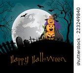 halloween party background.  | Shutterstock . vector #223249840