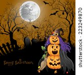 halloween party background.  | Shutterstock . vector #223249870