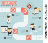step for success business... | Shutterstock .eps vector #223252330