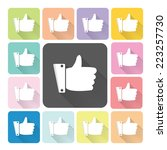 like icon color set vector... | Shutterstock .eps vector #223257730