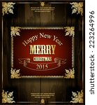 christmas label for xmas and... | Shutterstock .eps vector #223264996