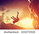 hiker free falling from the... | Shutterstock . vector #223272520
