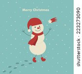 christmas  card design with... | Shutterstock .eps vector #223273090