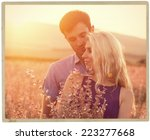 couple in love together summer... | Shutterstock . vector #223277668