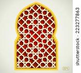 arabic islamic pattern arch... | Shutterstock .eps vector #223277863