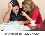 adult education   hispanic man... | Shutterstock . vector #223279204