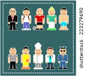 cartoon set vector characters... | Shutterstock .eps vector #223279690
