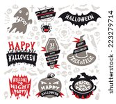 halloween labels set. isolated... | Shutterstock .eps vector #223279714