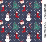 seamless christmas pattern in... | Shutterstock .eps vector #223280680