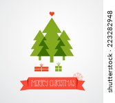 christmas trees. vector...   Shutterstock .eps vector #223282948