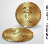 illustration of golden coins... | Shutterstock . vector #223294588