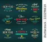 christmas and new year vintage... | Shutterstock .eps vector #223298614