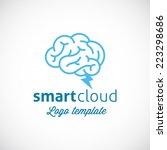 smart cloud abstract vector...   Shutterstock .eps vector #223298686