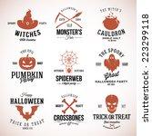 vintage typography halloween... | Shutterstock .eps vector #223299118