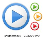 play buttons  four colors ... | Shutterstock .eps vector #223299490