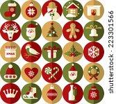 christmas design icons set.... | Shutterstock .eps vector #223301566