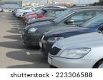 image of a vehicles parked in... | Shutterstock . vector #223306588