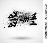 grunge math formula icon | Shutterstock .eps vector #223306960