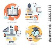 flat vector illustration. study ... | Shutterstock .eps vector #223318588