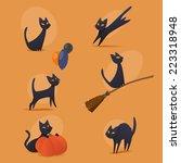 halloween cats   Shutterstock .eps vector #223318948