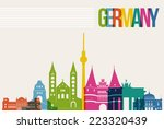 travel germany famous landmarks ... | Shutterstock .eps vector #223320439