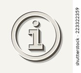 information icon   Shutterstock .eps vector #223322359