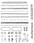 set of hand drawing elements... | Shutterstock .eps vector #223323079