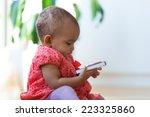 portrait of little african... | Shutterstock . vector #223325860