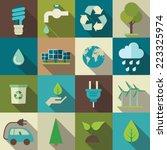 vector eco flat icons set | Shutterstock .eps vector #223325974