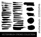 vector collection of brush... | Shutterstock .eps vector #223326946