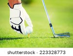 golf ball on tee | Shutterstock . vector #223328773