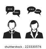call center operators wearing...   Shutterstock .eps vector #223330576
