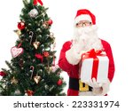 christmas  holidays and people... | Shutterstock . vector #223331974