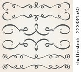 calligraphic elements and page... | Shutterstock .eps vector #223334560