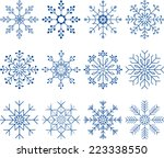snowflake vector set | Shutterstock .eps vector #223338550