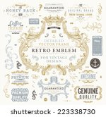 vintage vector design elements... | Shutterstock .eps vector #223338730