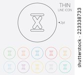 roman numeral ten sign icon.... | Shutterstock .eps vector #223338733