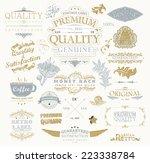 vintage vector design elements... | Shutterstock .eps vector #223338784