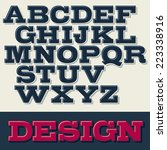 vector slab serif font with... | Shutterstock .eps vector #223338916