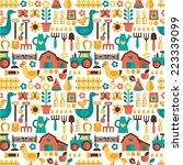 seamless vector pattern farm.... | Shutterstock .eps vector #223339099