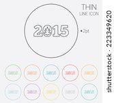 happy new year 2015 sign icon.... | Shutterstock .eps vector #223349620