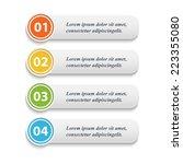 vector  realisti  web buttons... | Shutterstock .eps vector #223355080