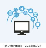 social media graphic design  ... | Shutterstock .eps vector #223356724