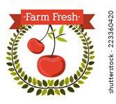 farm design over white...   Shutterstock .eps vector #223360420