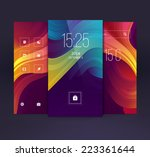 Mobile interface wallpaper design. Vector | Shutterstock vector #223361644